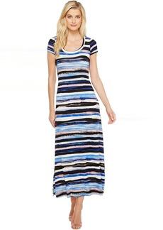 Karen Kane Painted Stripe Maxi Dress