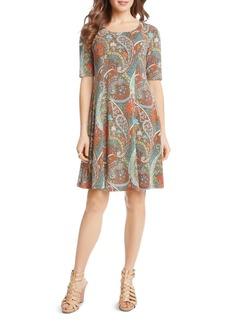 Karen Kane Paisley A-Line Dress