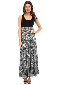 Karen Kane Paisley Print Tiered Maxi Dress