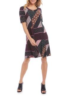 Karen Kane Patchwork A-Line Dress