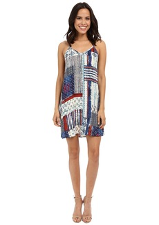 Karen Kane Patchwork Print T-Back Dress