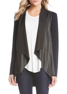 Karen Kane Patterned Drape Front Jacket