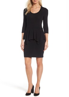 Karen Kane Peplum Knit Dress (Regular & Petite)