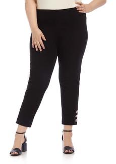Karen Kane Piper Button Hem Pants (Plus Size)