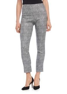 Karen Kane Piper Metallic Jacquard Ankle Skinny Pants