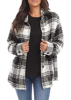 Karen Kane Plaid Shirt Jacket