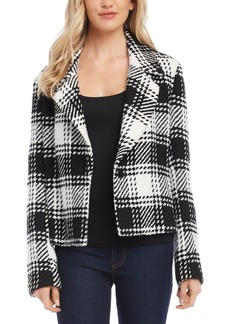 Karen Kane Plaid Tweed Jacket
