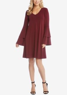Karen Kane Pleated Bell-Sleeve Dress