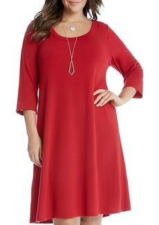Karen Kane Plus Knit A-Line Dress