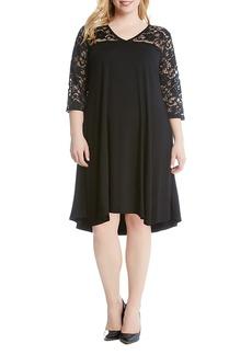 Karen Kane Plus Lace Yoke High/Low Dress