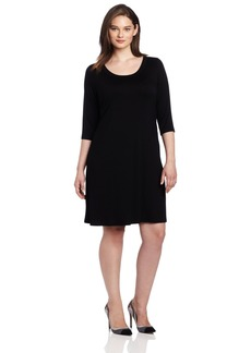 Karen Kane Plus-Size 3/4 Sleeve A-Line Dress  0X