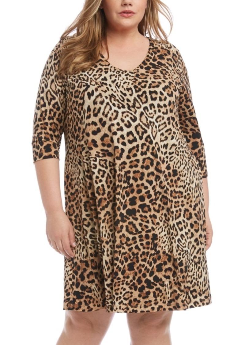 Karen Kane Plus Size Leopard-Print Shift Dress