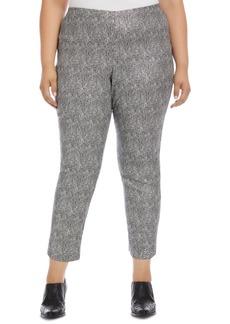 Karen Kane Plus Size Metallic Jacquard Piper Pants