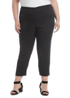 Karen Kane Plus Size Pinstriped Skinny Pants