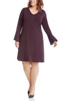 Karen Kane Plus Taylor Bell-Sleeve Dress
