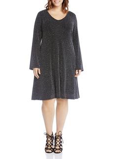 Karen Kane Plus Taylor Sparkle Knit Dress