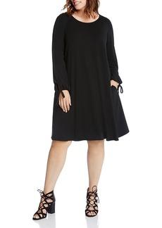 Karen Kane Plus Tie Cuff Swing Dress