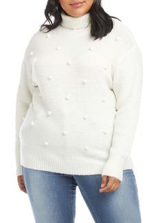 Karen Kane Pom Turtleneck Sweater (Plus Size)
