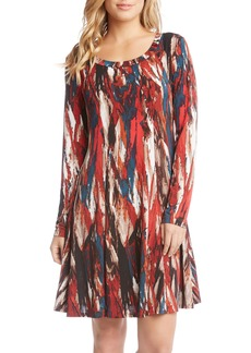 Karen Kane Print A-Line Dress
