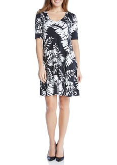 Karen Kane Print Elbow Sleeve Taylor Dress