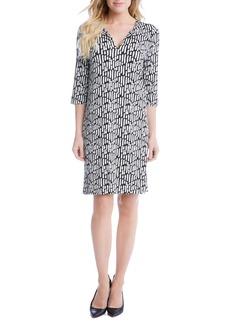 Karen Kane Print Shift Dress