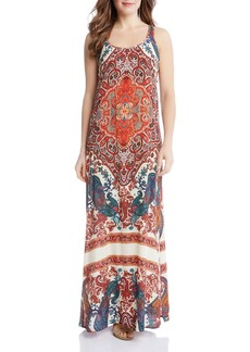 Karen Kane Print Side Slit Maxi Dress