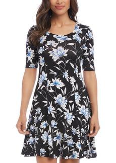 Karen Kane Printed A-Line Sleeveless Dress