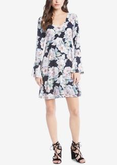 Karen Kane Printed Bell-Sleeve Shift Dress