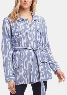Karen Kane Printed Belted Cotton Jacket