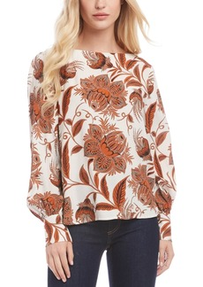 Karen Kane Printed Boat-Neck Top