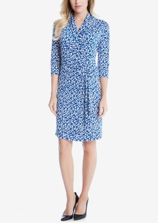 Karen Kane Printed Faux-Wrap Dress