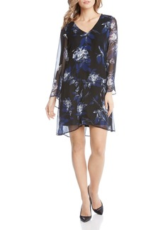 Karen Kane Printed Flare-Sleeve Dress
