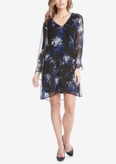 Karen Kane Printed Flared-Sleeve Shift Dress