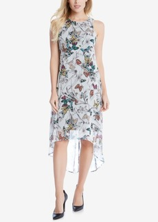 Karen Kane Printed High-Low Shift Dress
