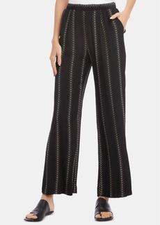 Karen Kane Printed Pull-On Wide-Leg Pants