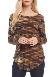 Karen Kane Printed Shirttail Top