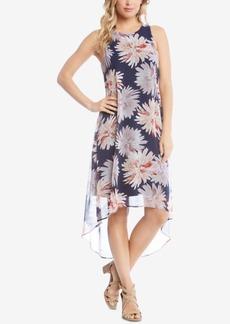 Karen Kane Printed Sleeveless High-Low Dress