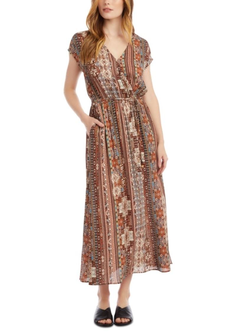 Karen Kane Printed Surplice Maxi Dress