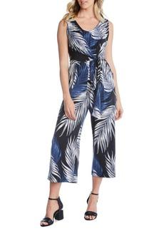 Karen Kane Printed Tie-Front Jumpsuit