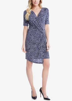 Karen Kane Printed Wrap Dress