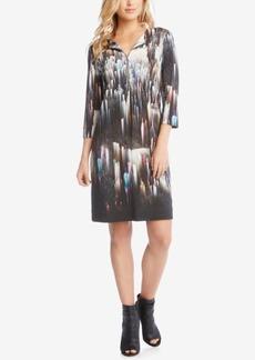 Karen Kane Printed Zip-Front Dress