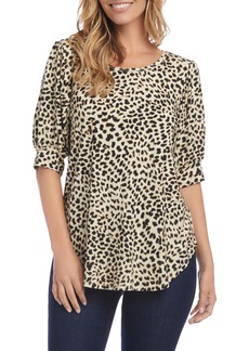 Karen Kane Puff Sleeve Shirttail Top