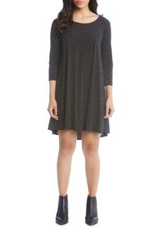 Karen Kane Quarter-Sleeve Maggie Trapeze Dress
