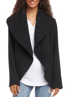 Karen Kane Quilted-Lapel Open Jacket
