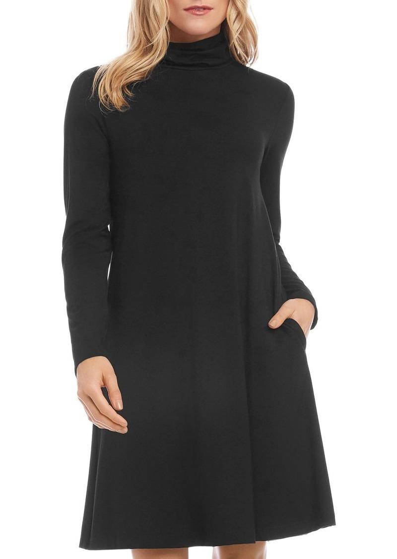 Karen Kane Quinn A-line Turtleneck Dress