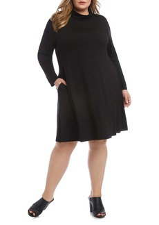Karen Kane Quinn Long Sleeve Turtleneck Dress (Plus Size)