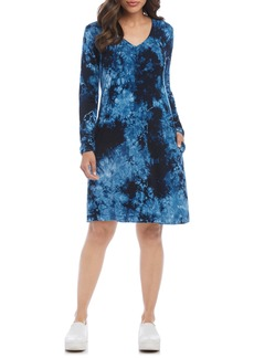 Karen Kane Quinn Tie Dye Long Sleeve Dress