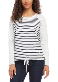 Karen Kane Raglan-Sleeve Kangaroo-Pocket Top