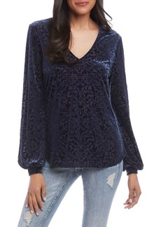 Karen Kane Relaxed-Fit Velvet Burnout Top