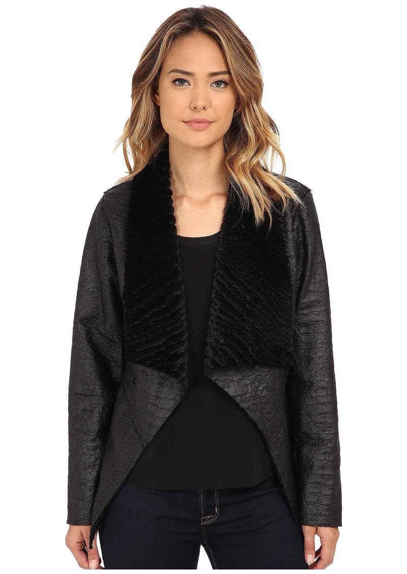 Karen Kane Reversible Faux Fur Coat
